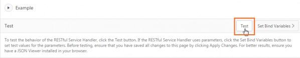 Testing the behavior of the RESTful Service Handler