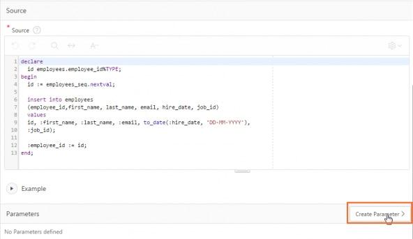 Adding an OUT parameter