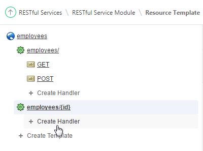 Selecting Create Handler