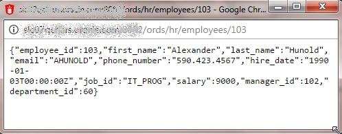 Viweing details of employee 103
