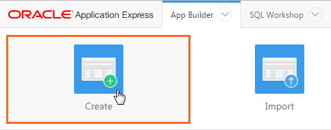 Clicking the Create icon