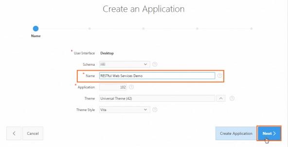 Entering RESTful Web Services Demo for Name