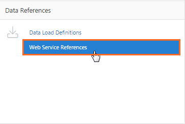 Clicking Web Service References.