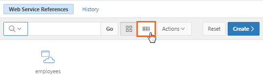 Clicking the View Report icon