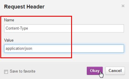 Entering Request Header values
