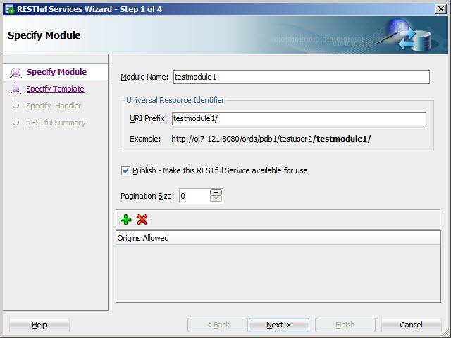 RESTful Web Service : Module