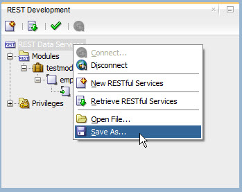 RESTful Web Service :